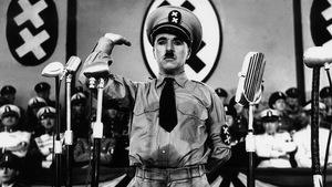 La représentation d'Adolf Hitler dans le film Le dictateur de Charlie Chaplin.