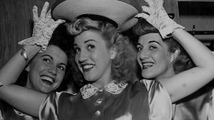 Maxene, Patty et LaVerne Andrews, alias The Andrews Sisters.