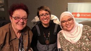 Diane Montreuil, Ludiwine Clouzot et Syrine Abdelmalek