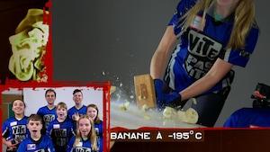 Banane à l'azote et maquillage express pour Jean-Guy