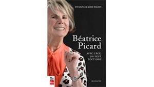 Couverture du livre : Béatrice sourit. Elle porte une chemise saumon et un veston imprimé.