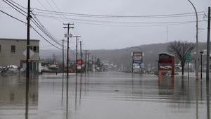 Le centre-ville de Beauceville inondé