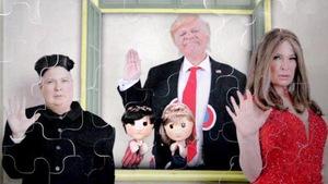 Ils personnifient Donald Trump, Mélania et Kim Jong-un