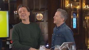 Les deux hommes sur le plateau de l'émission.