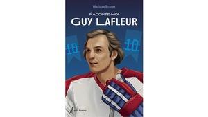 Un dessin de Guy Lafleur en joueur de hockey.