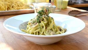 Spaghetti alle vongole (spaghetti aux palourdes)