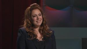 Isabelle Boulay sur le point d'offrir une prestation.