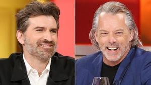 Un montage de deux photos : à gauche, un homme qui porte une chemise blanche et un veston noir. À droite, un homme qui porte un chandail noir et un veston bleu.