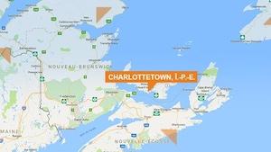 Carte géographique de Charlottetown à l'Île-du-Prince-Édouard