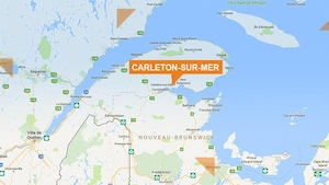 Une carte de Carleton-sur-Mer