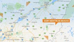 Une carte de Saint-Martin-de-Beauce