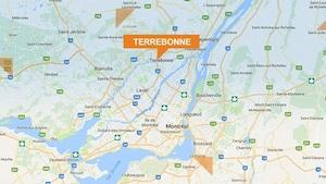 Une carte géographique montre où est située la ville de Terrebonne