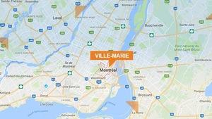 Carte du quartier Ville-Marie à Montréal