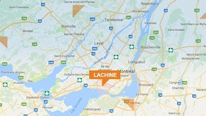 Une carte de Lachine sur Google map.