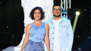 Alice Pascual et Mehdi Bousaidan sourient