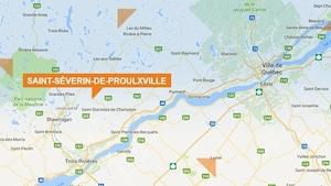 Carte de Saint-Séverin-de-Proulxville