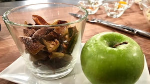Croustilles de pelures de pommes