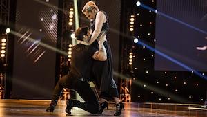 Mélissa Lavergne et King Melrose dansent un paso doble.