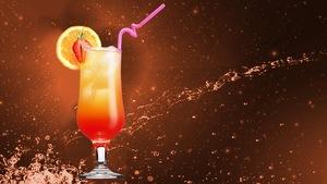 Un cocktail grenadine maison.