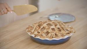 Une tarte fraîchement sortie du four