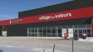 La devanture du Village des Valeurs, à Sherbrooke.