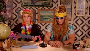 Surfeur d'Hawaii et un amoureux des crayons