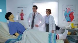 Le premier voyage de montgolfière et un patient sans colonne