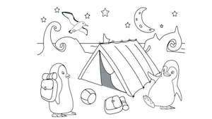 Coloriage Ozie Boo - Le camping