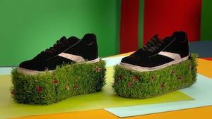 Chaussures semelles hautes camouflage