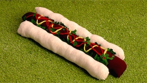 L'oreiller magique hot-dog