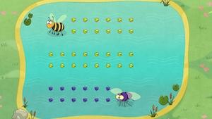 """Joue à """"Les insectes de l'étang sont affamés"""" avec Idées de génie"""