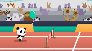 "Joue à ""Cours panda"" avec Lilou Bambou"