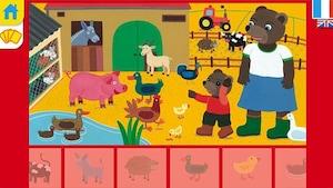 """Joue à """"L'imagier interactif de Petit Ours Brun – Les animaux"""""""