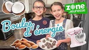 Boules d'énergie dattes et noix de coco