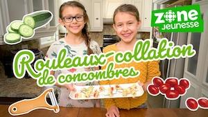 Rouleaux-collation de concombres