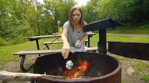 [ON bouffe] Muffins aux bleuets sur feu de camp