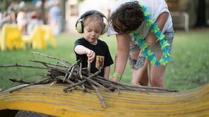 On les voit au festival Petit Piknic, dans le parc