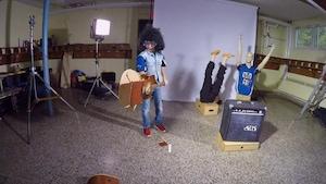 Guitare et boule disco