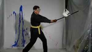 Le lancé-rattrapé de peinture et l'autodéfense de Fred
