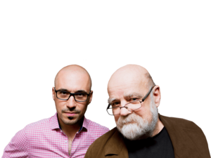 Animateurs Jean-Phillipe Pleau et Serge Bouchard