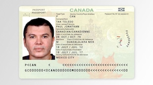 Reproduction d'un passeport canadien