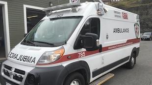 Une ambulance au Nouveau-Brunswick