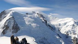 Le Mont-Blanc, dans les Alpes françaises, le 16 septembre 2010.