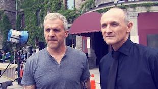 Patrick Huard et Colm Feore sur le plateau de « Bon cop, bad cop 2 »