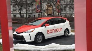 Un prototype de nouvelle voiture de taxi montréalaise.