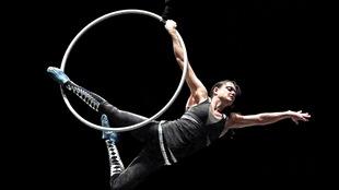 L'acrobate Lisa Skinner lors d'une séance d'entraînement à Kansas City en décembre 2012