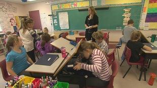 Une salle de classe de l'école Amirault à Dieppe.