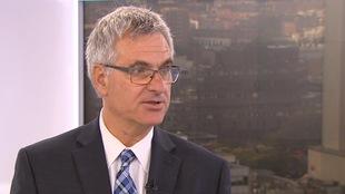 Jean-Marc Fournier, leader parlementaire du gouvernement du Québec, dans un studio de Radio-Canada
