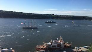 Les grands voiliers ont largué les amarres dimanche matin.