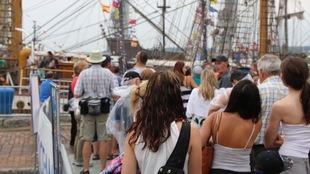 La foule est au rendez-vous pour les grands voiliers